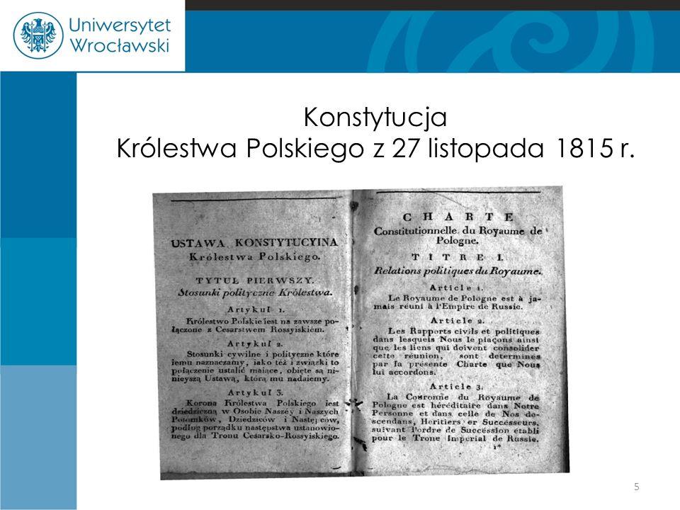 Konstytucja Królestwa Polskiego z 27 listopada 1815 r.