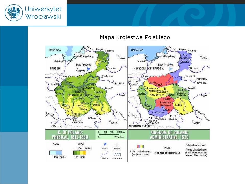 Mapa Królestwa Polskiego
