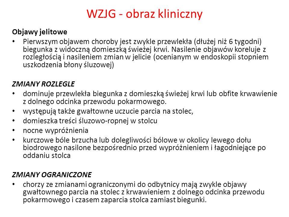 WZJG - obraz kliniczny Objawy jelitowe