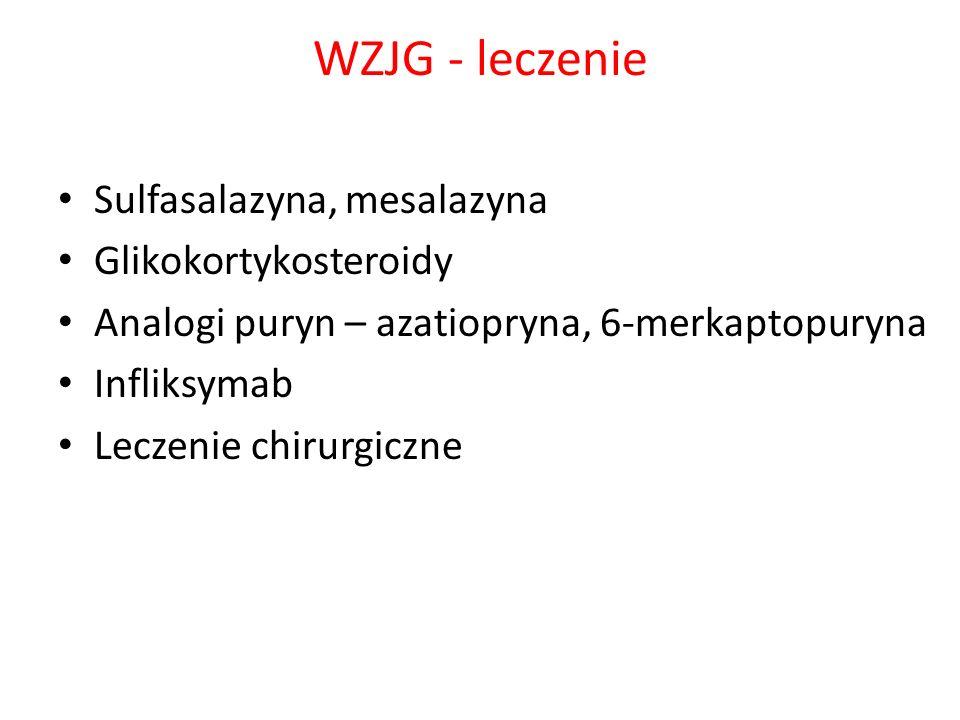 WZJG - leczenie Sulfasalazyna, mesalazyna Glikokortykosteroidy