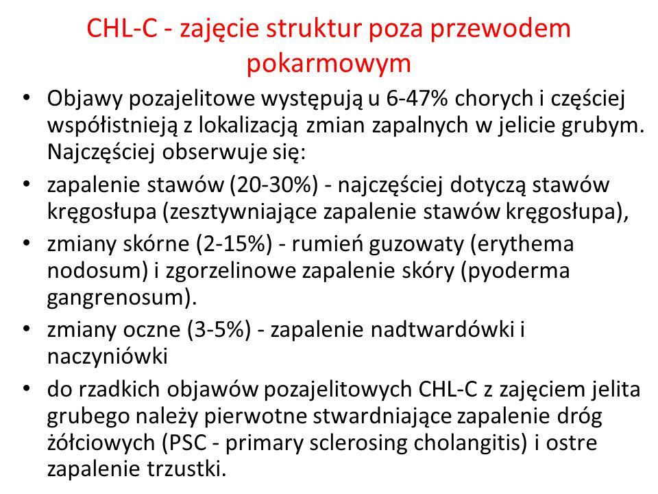 CHL-C - zajęcie struktur poza przewodem pokarmowym
