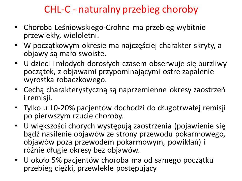 CHL-C - naturalny przebieg choroby