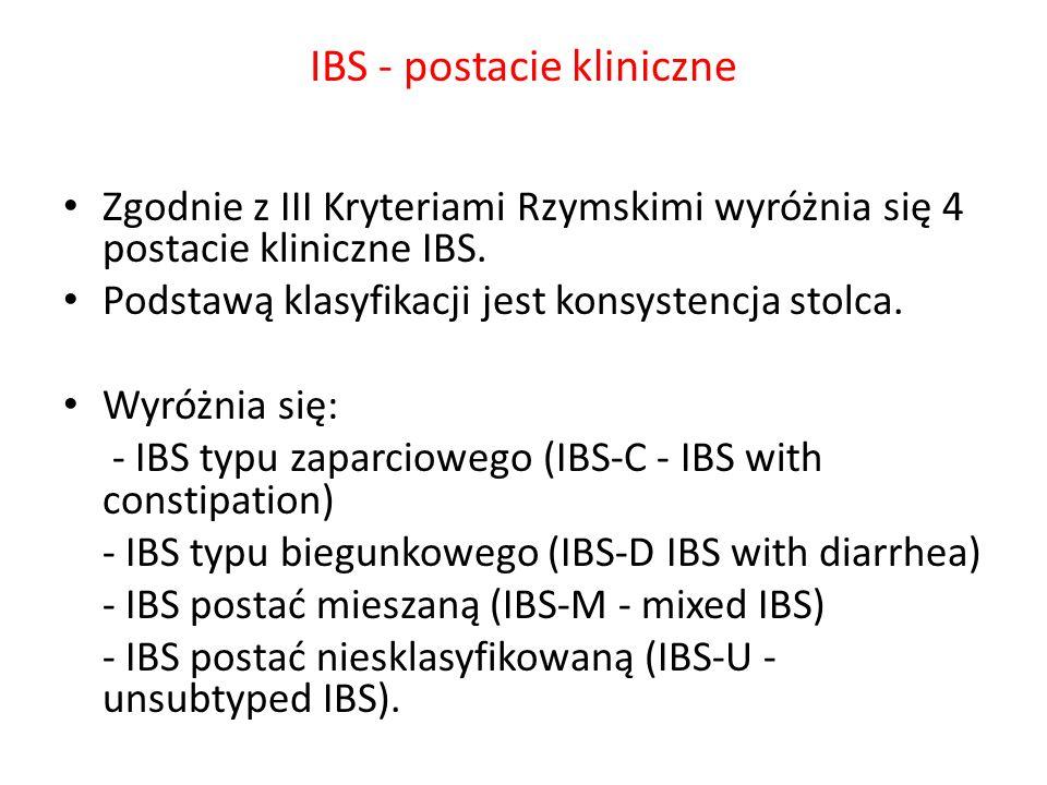 IBS - postacie kliniczne