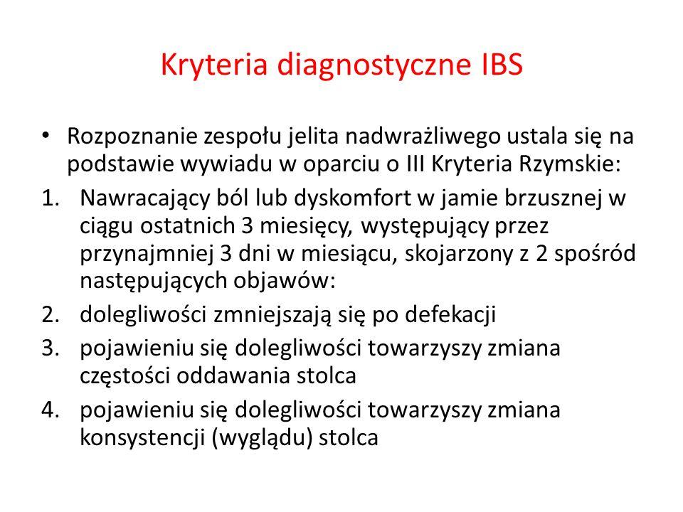 Kryteria diagnostyczne IBS