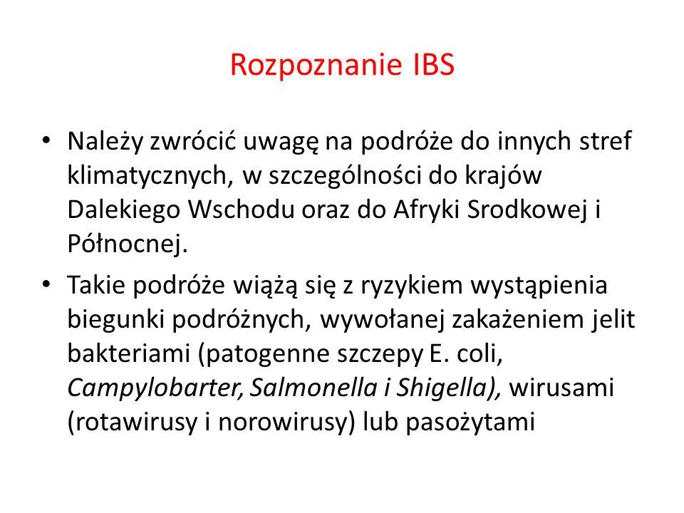 Rozpoznanie IBS