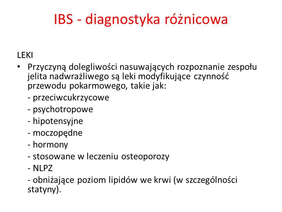 IBS - diagnostyka różnicowa