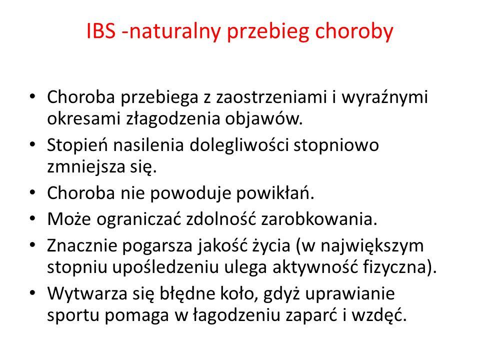 IBS -naturalny przebieg choroby