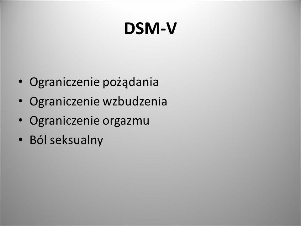 DSM-V Ograniczenie pożądania Ograniczenie wzbudzenia