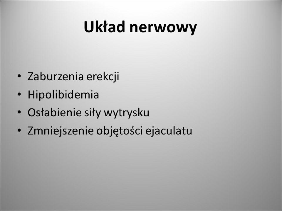 Układ nerwowy Zaburzenia erekcji Hipolibidemia