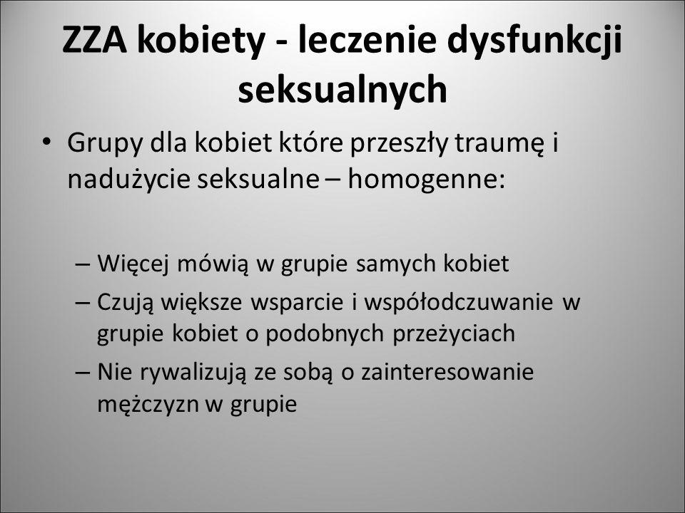 ZZA kobiety - leczenie dysfunkcji seksualnych