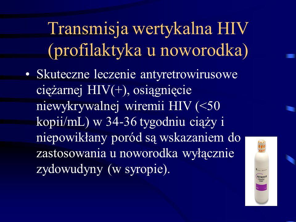 Transmisja wertykalna HIV (profilaktyka u noworodka)