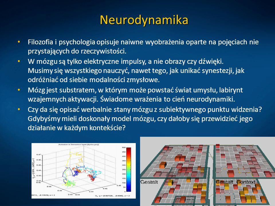 Neurodynamika Filozofia i psychologia opisuje naiwne wyobrażenia oparte na pojęciach nie przystających do rzeczywistości.