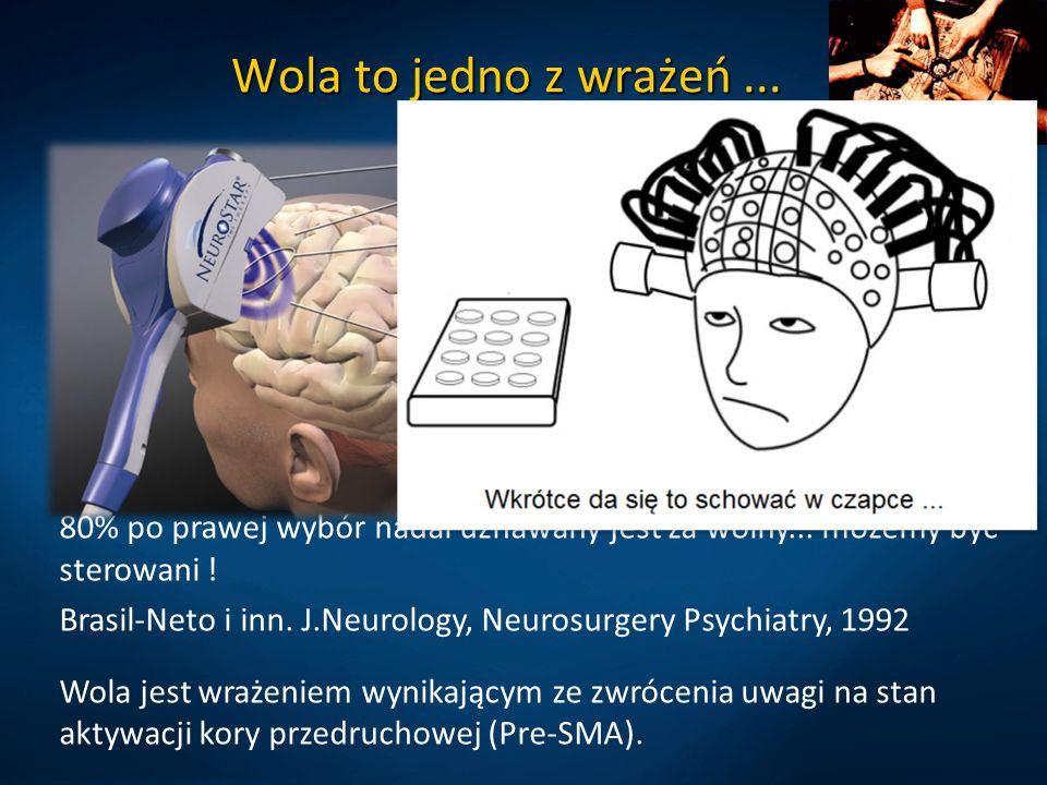 Wola to jedno z wrażeń ... Wegner DM, The illusion of conscious will. MIT Press( 2002)
