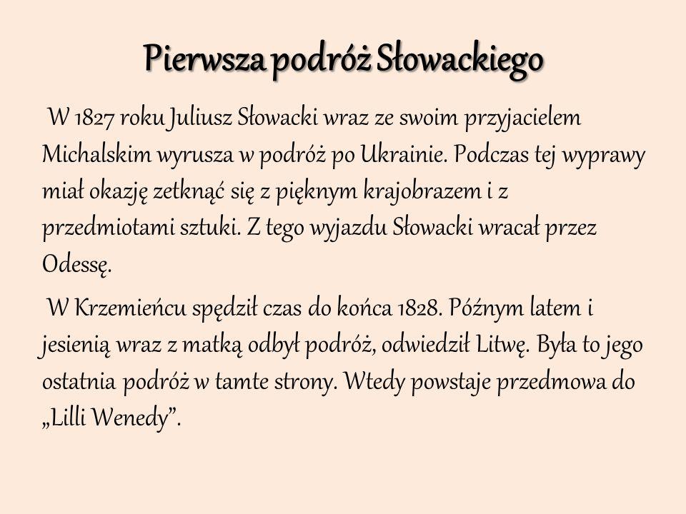 Pierwsza podróż Słowackiego