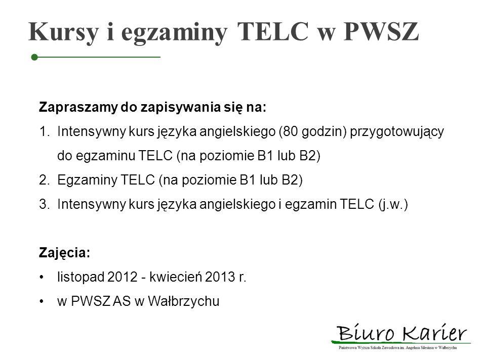 Kursy i egzaminy TELC w PWSZ