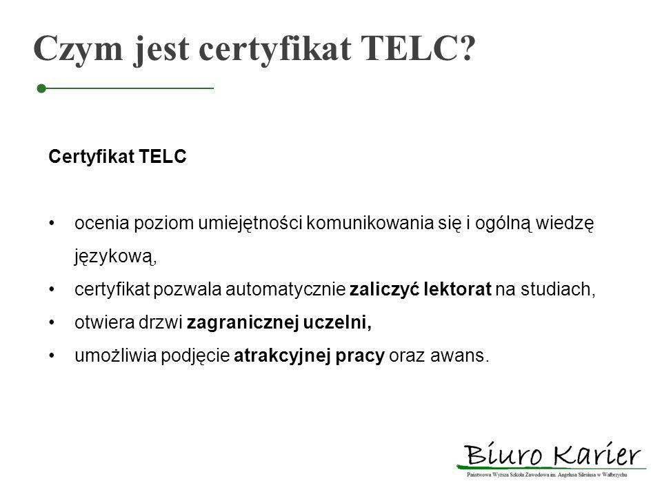 Czym jest certyfikat TELC