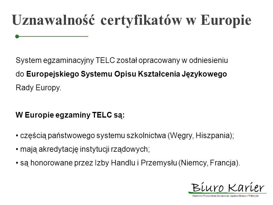 Uznawalność certyfikatów w Europie