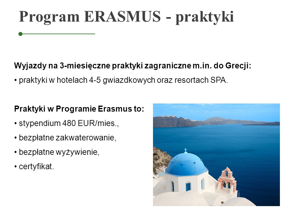 Program ERASMUS - praktyki