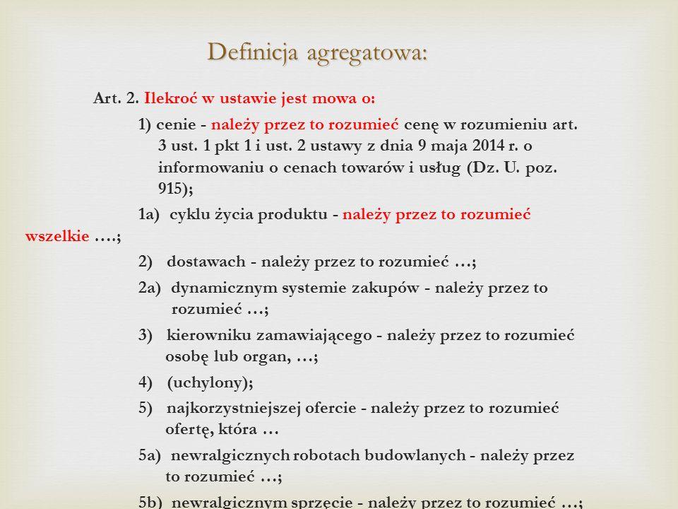 Definicja agregatowa: