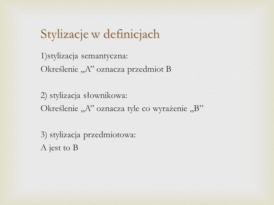 Stylizacje w definicjach