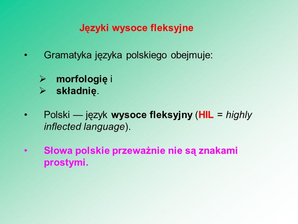 Języki wysoce fleksyjne