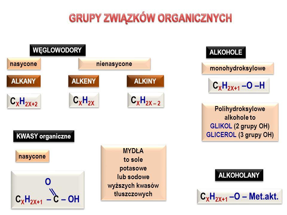 GRUPY ZWIĄZKÓW ORGANICZNYCH Polihydroksylowe alkohole to