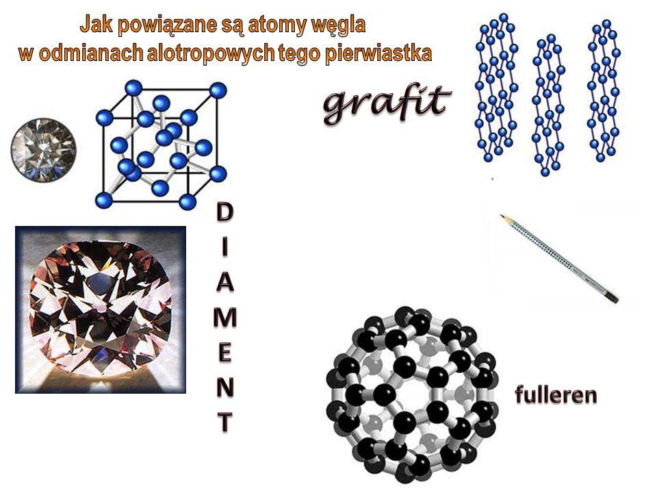 Jak powiązane są atomy węgla w odmianach alotropowych tego pierwiastka