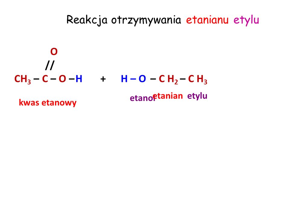 Reakcja otrzymywania etanianu etylu