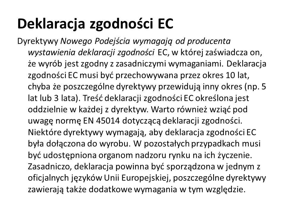 Deklaracja zgodności EC