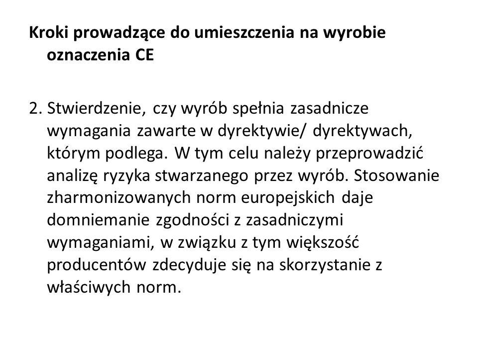 Kroki prowadzące do umieszczenia na wyrobie oznaczenia CE 2