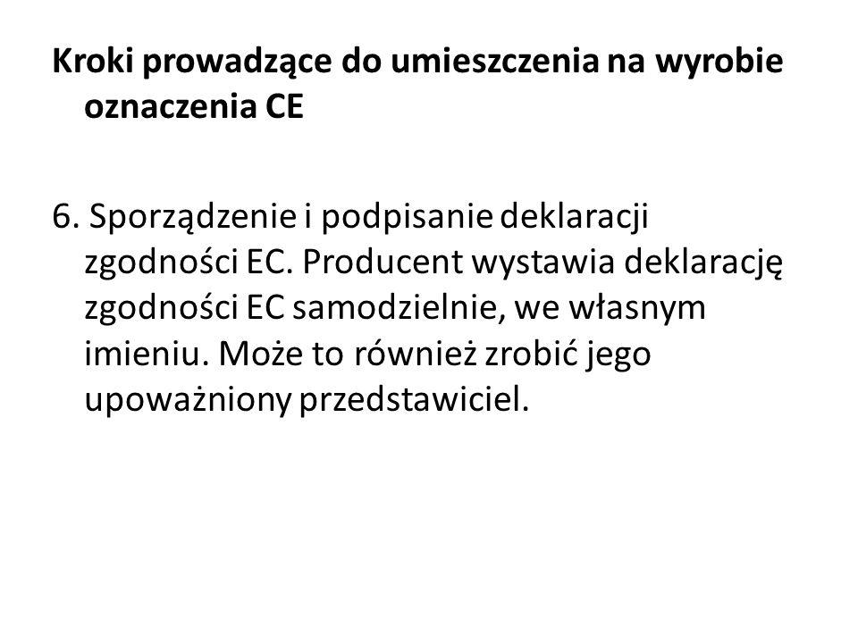 Kroki prowadzące do umieszczenia na wyrobie oznaczenia CE 6