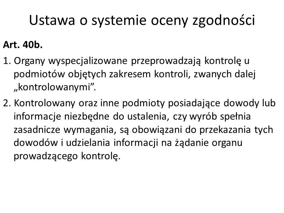 Ustawa o systemie oceny zgodności