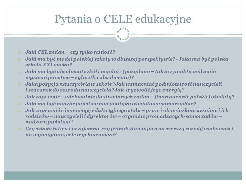 Pytania o CELE edukacyjne