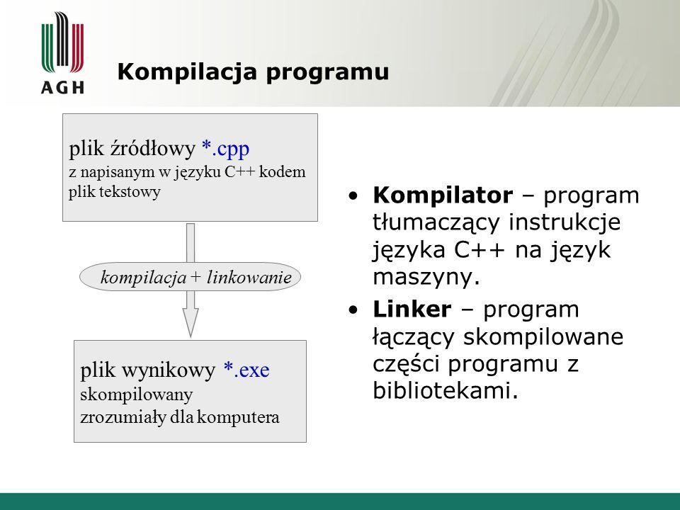 Linker – program łączący skompilowane części programu z bibliotekami.