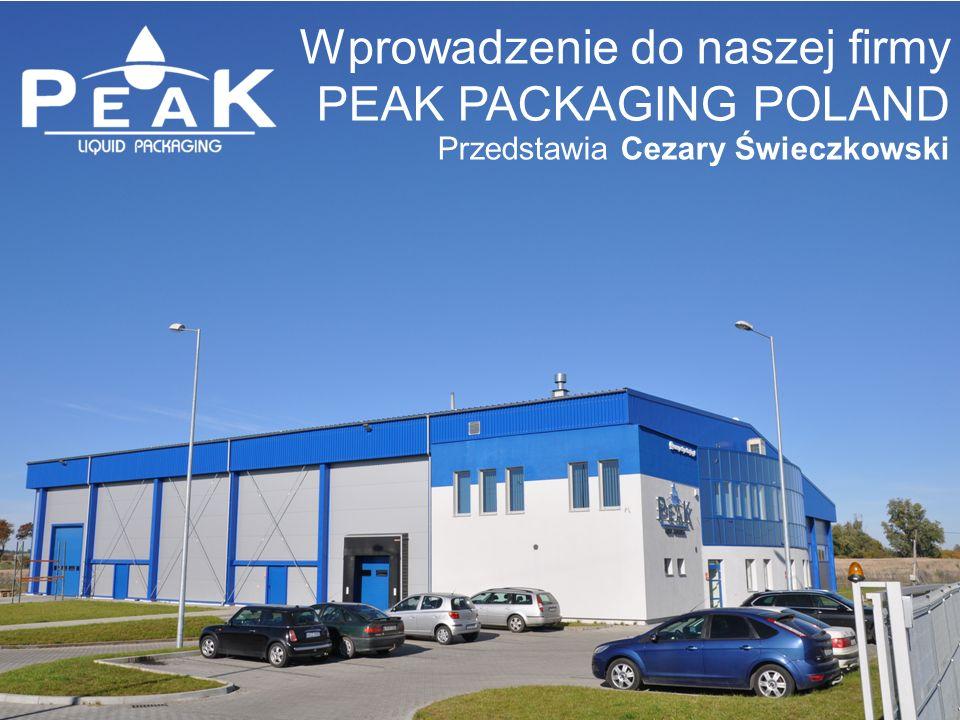 Wprowadzenie do naszej firmy PEAK PACKAGING POLAND