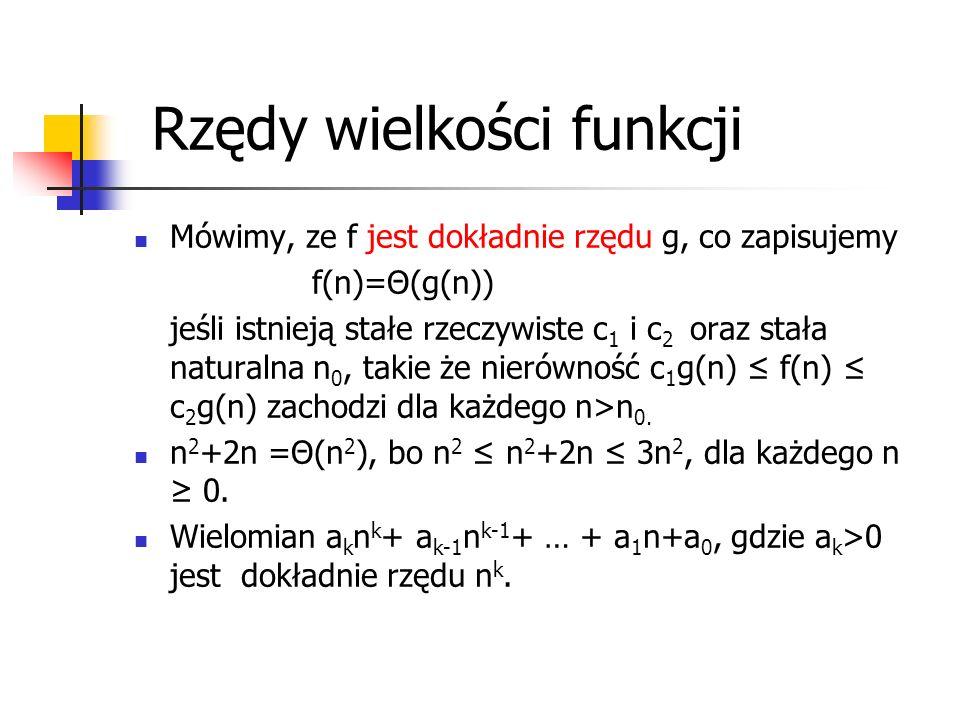 Rzędy wielkości funkcji