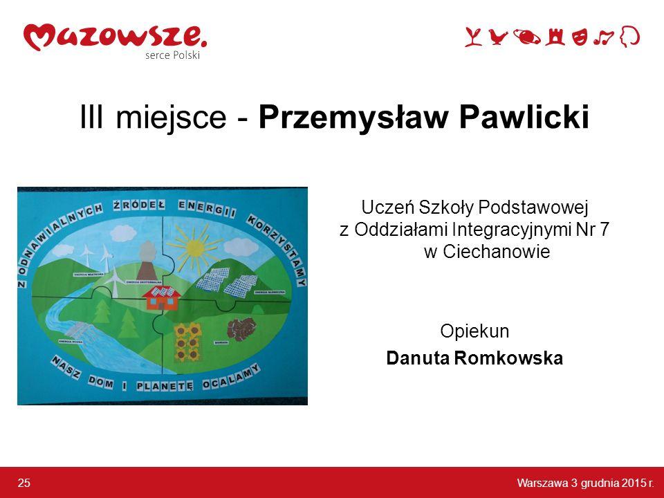 III miejsce - Przemysław Pawlicki