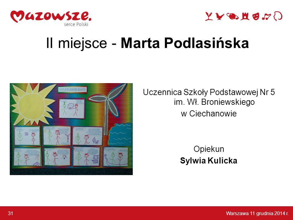 II miejsce - Marta Podlasińska