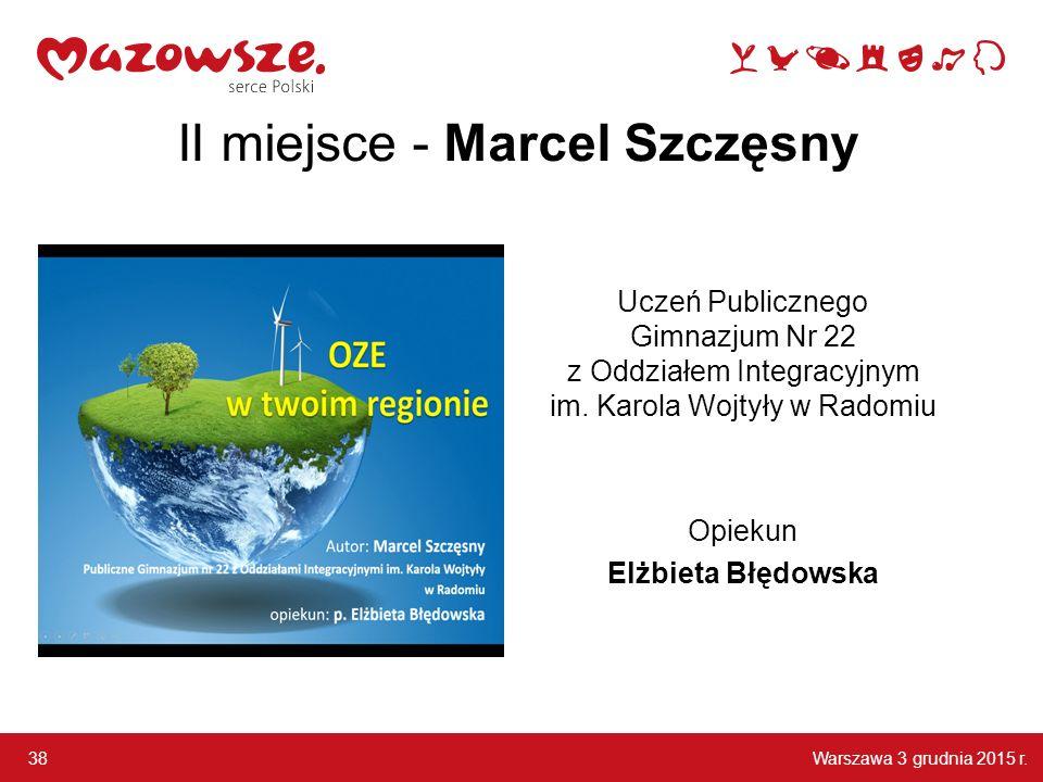 II miejsce - Marcel Szczęsny