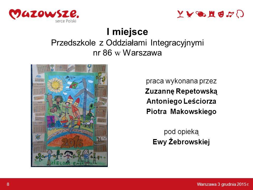 I miejsce Przedszkole z Oddziałami Integracyjnymi nr 86 w Warszawa