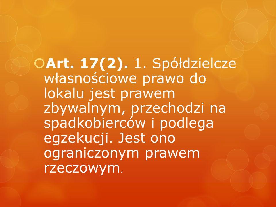 Art. 17(2). 1.