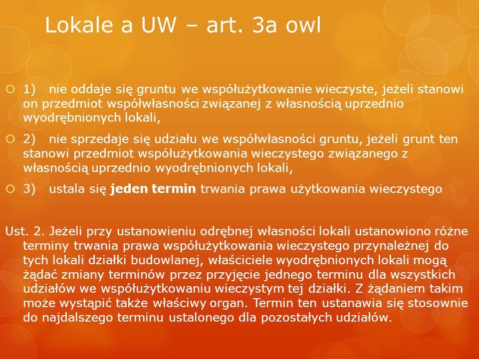 Lokale a UW – art. 3a owl