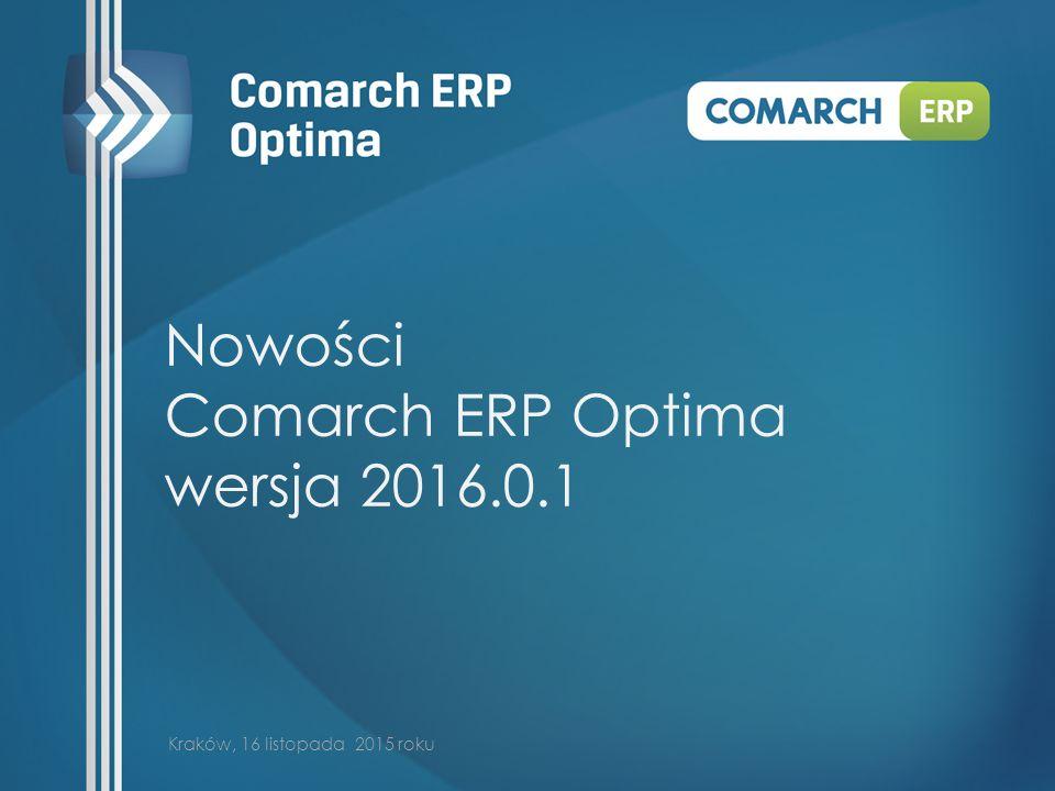 Nowości Comarch ERP Optima wersja 2016.0.1