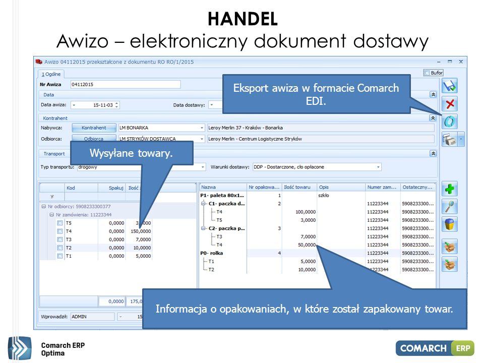 HANDEL Awizo – elektroniczny dokument dostawy