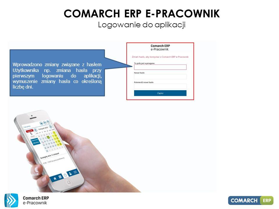 Comarch ERP E-PRACOWNIK Logowanie do aplikacji
