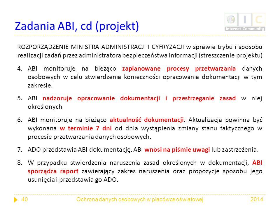 Zadania ABI, cd (projekt)