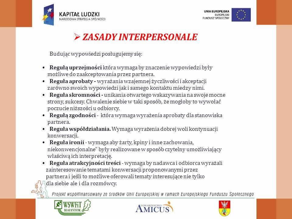 ZASADY INTERPERSONALE