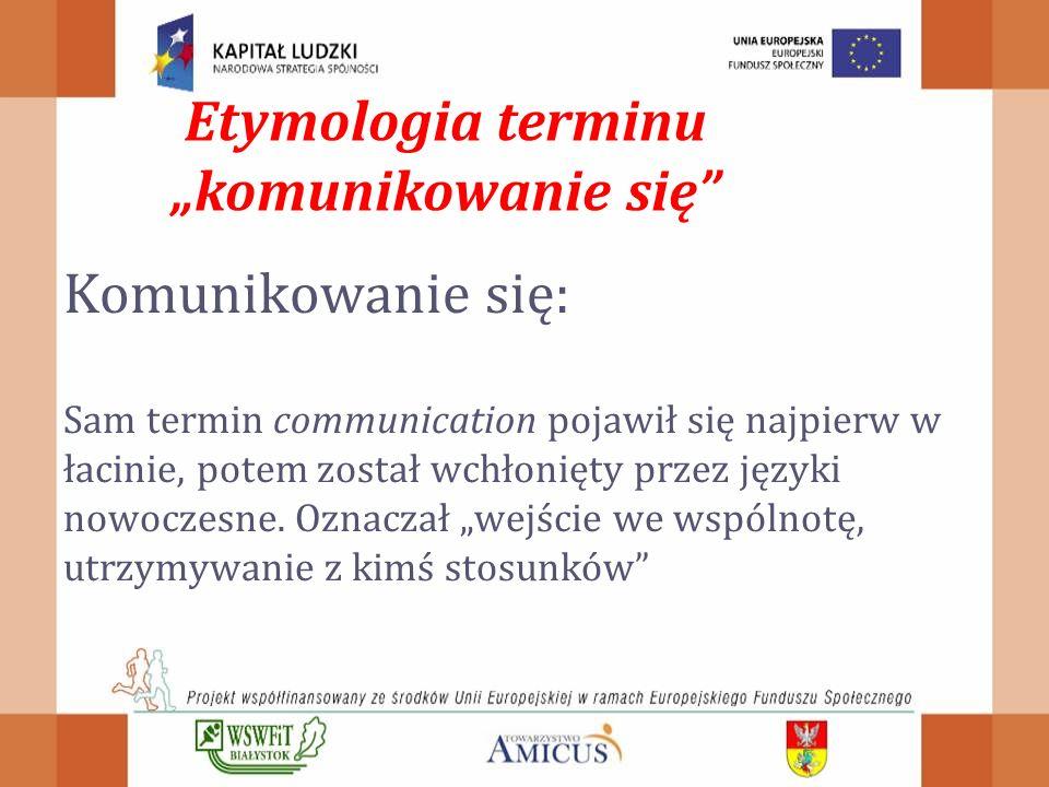 """Etymologia terminu """"komunikowanie się"""