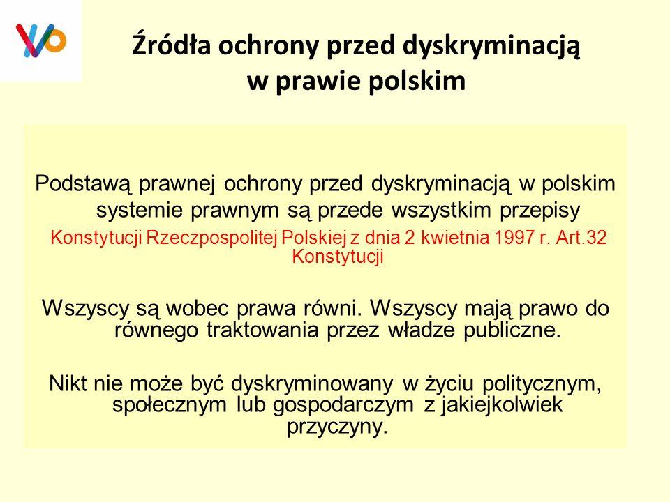 Źródła ochrony przed dyskryminacją w prawie polskim