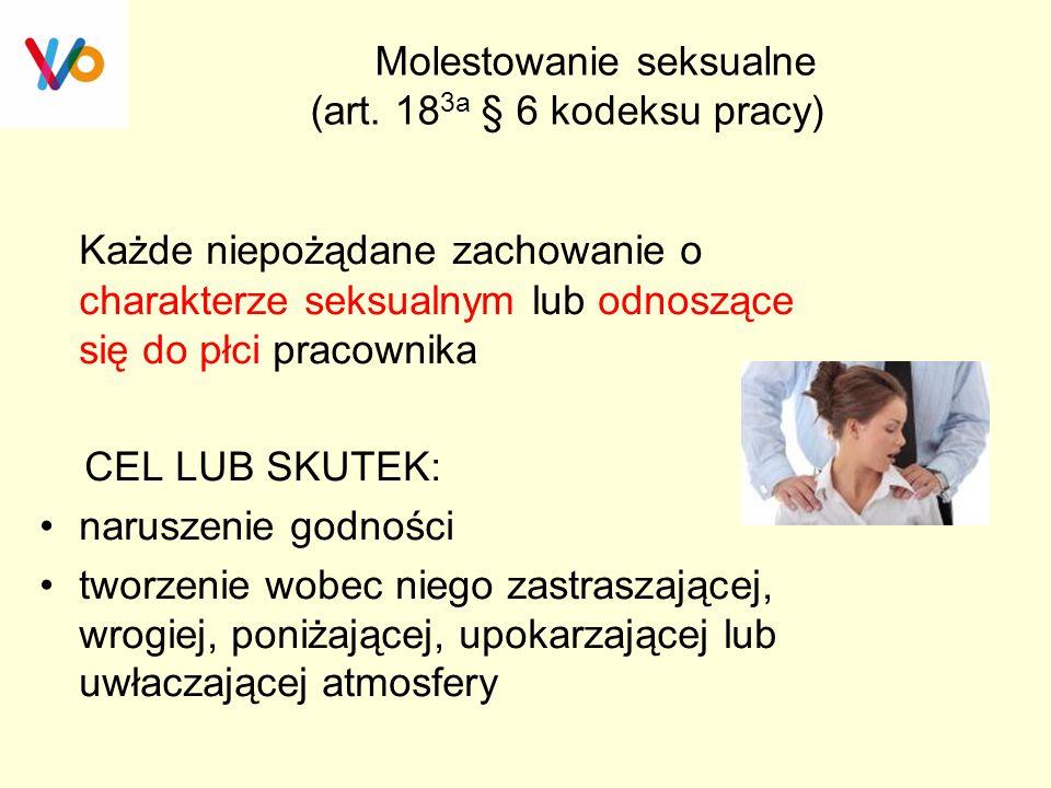 Molestowanie seksualne (art. 183a § 6 kodeksu pracy)